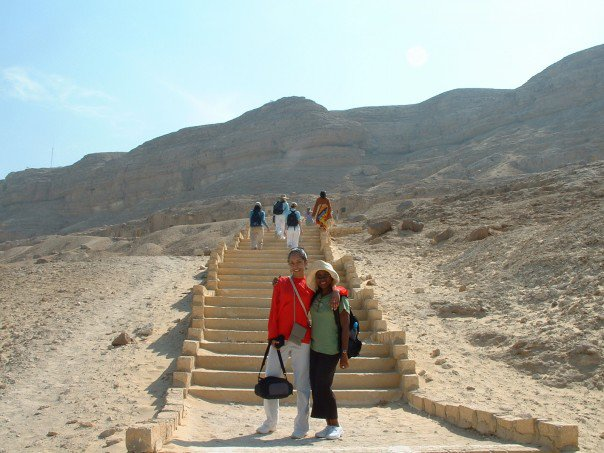 Jen and me studying abroad in Egypt