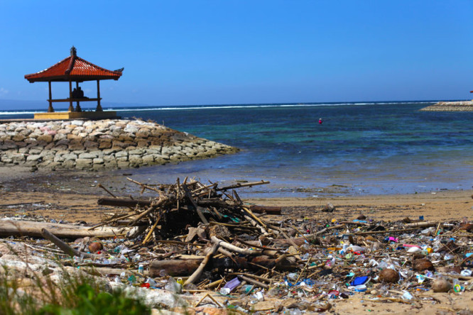 I was very disappointed to see all the litter on Sanur Beach. Sustainable Travel Tip: Don't Litter! Recycle When You Can.