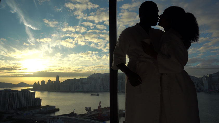 Honeymoon bliss: Our room at Hotel Icon in Hong Kong