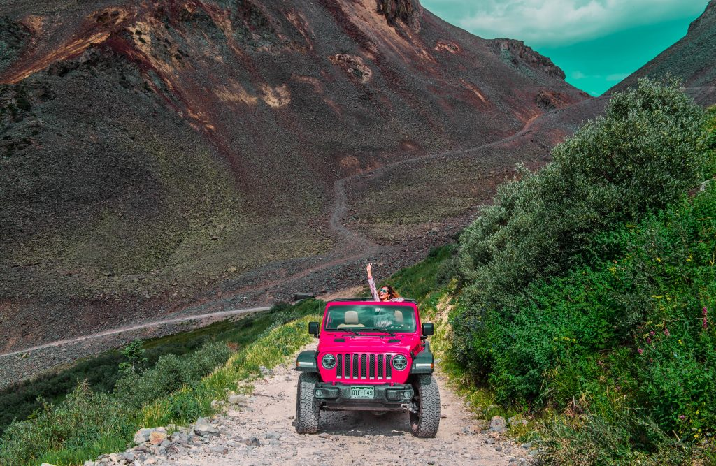 Off-roading in Colorado at Ophir Pass