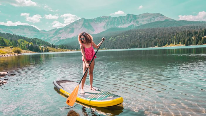 Paddleboarding in Telluride, Colorado