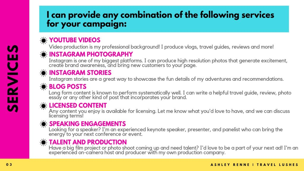 Media Kit - Ashley Renne - Travel Lushes - Page 3