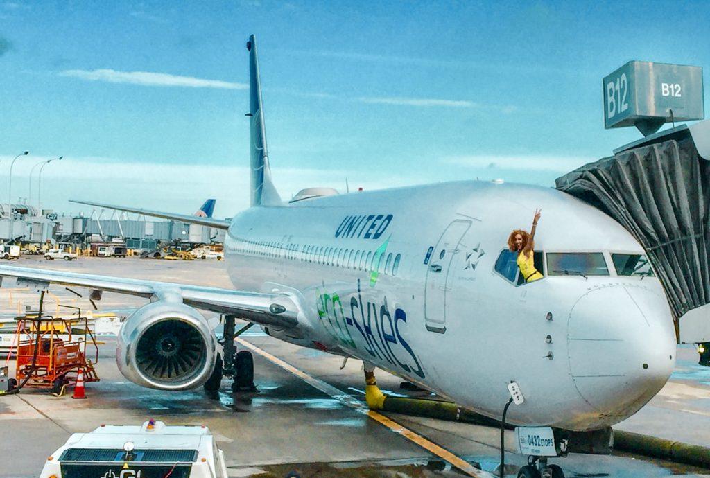 Most Eco-Friendly Flight in History: United EcoSkies | Ashley Renne